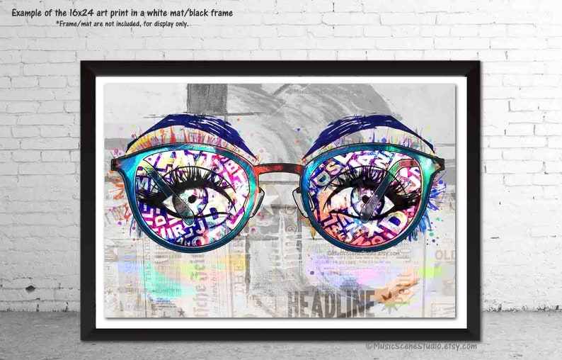 bde737599b0b Eyeglasses Art Optometry Decor Wall Art Eye Prints Glasses | Etsy