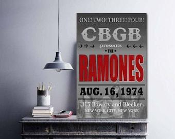 Ramones, The Ramones Original Art, Ramones Poster, Ramones Print, Punk Band, Punk Art, Punk Poster, Punk Music, Joey Ramone, NYC Art, CBGB