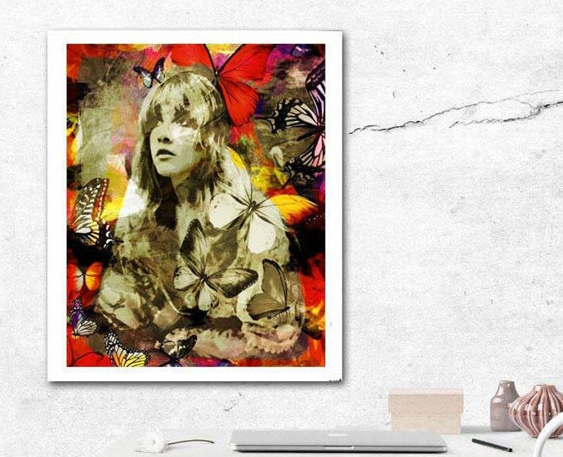 Stevie Nicks, Stevie Nicks Art Print, Rock Queen, Rock n Roll Art, Famous  Singers, Gypsy, Gypsy Art, Famous Songwriters