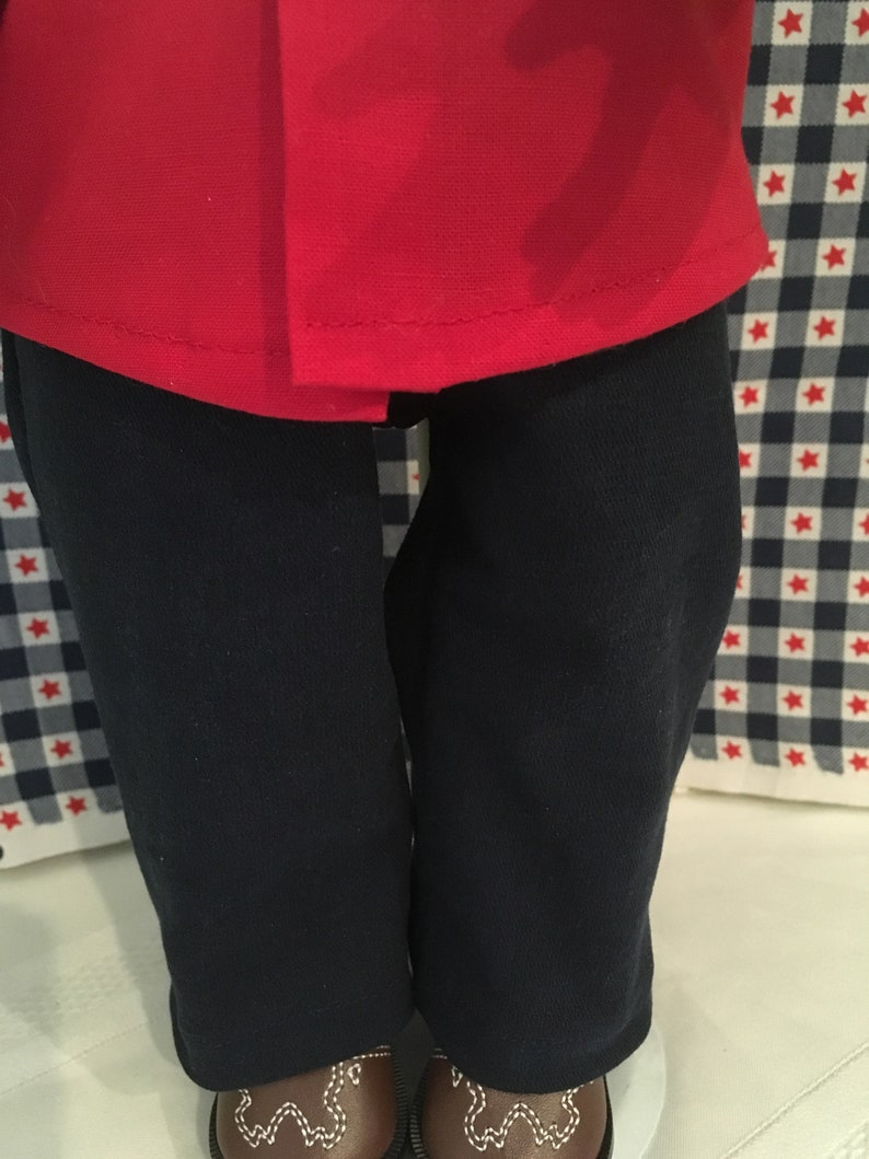 Logan 18 Boy Doll Clothes Patriotic  Fringe Shirt and Denim Jeans