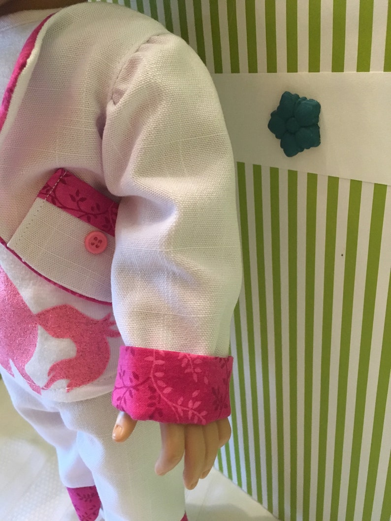 American Girl 18 Doll Summer White Linen Jacket and Pants Set