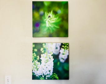 TWO // Plant - flower Fine Art Photographic Print on Canvas