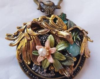 Steampunk fantasy eagle pendant