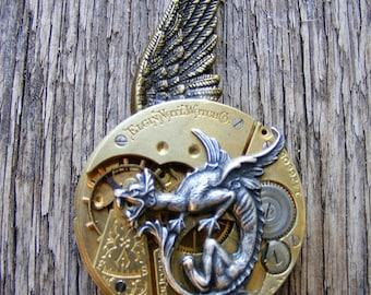 STEAMPUNK GOTHIC pocket watch pendant