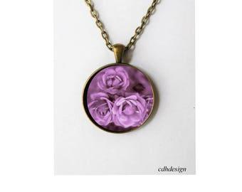Purple roses vintage style