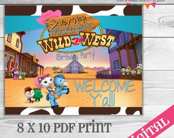 Sheriff Callie welcome Sign Digital or Printed