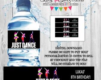 Just Dance water bottle label DIGITAL