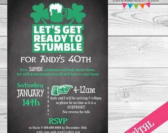 DIGITAL Pub Crawl Party invitation