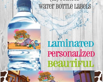 Sheriff Callie water bottle labels (set of 12)