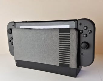 Nintendo Switch NES Themed Dock Sock Cozy Microfiber Protector