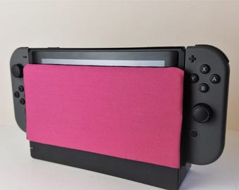 Nintendo Switch Bright Pink Dock Sock Cozy Microfiber Protector