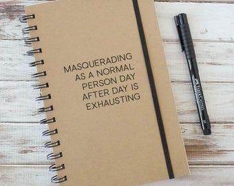 Writing Journal, Spiral notebook, graduation gift, sketchbook, coworker gift, college graduation NP1