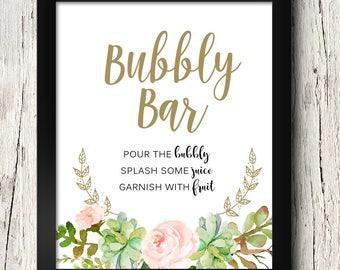 Bar Sign,Printable Wedding Decor Cocktail Bar Sign in White Printable Wedding Signs Open Bar Sign,Instant Download/_Adelicia