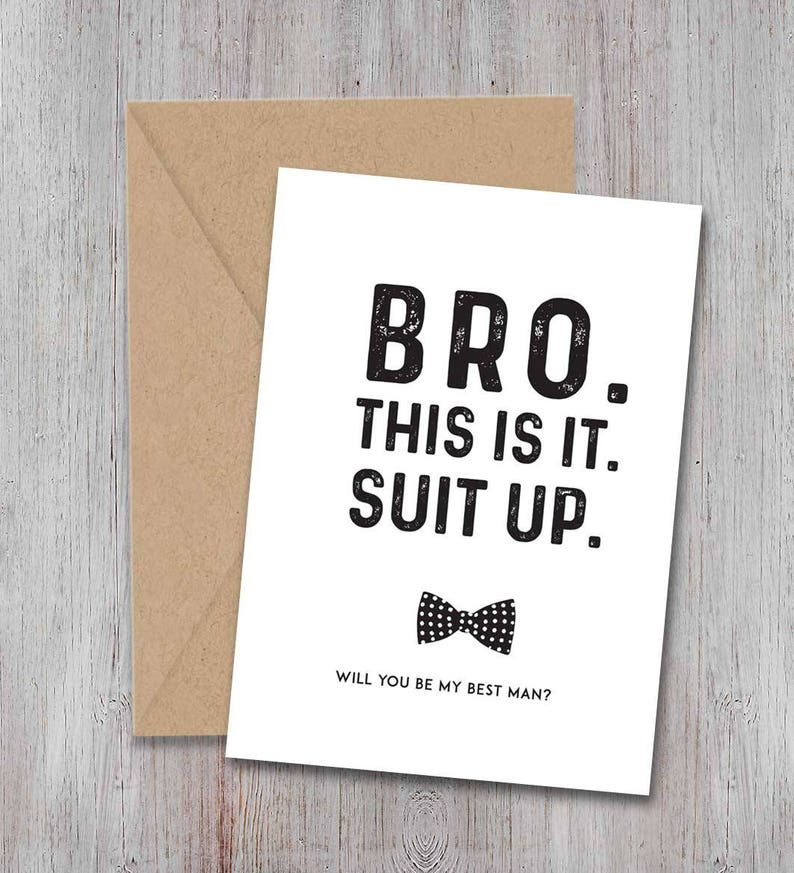 32b64f83f1da5 Best man Proposal Card, Suit Up, Wedding Party Proposal Card, Bridal party  proposal, Printable Card, Wedding Card, INSTANT download file
