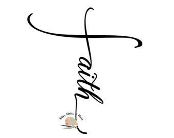 Faith svg CUT file, Faith cross svg file Christian faith and sideways cross svg for Silhouette Cameo Cricut, faith t-shirt svg DIY idea