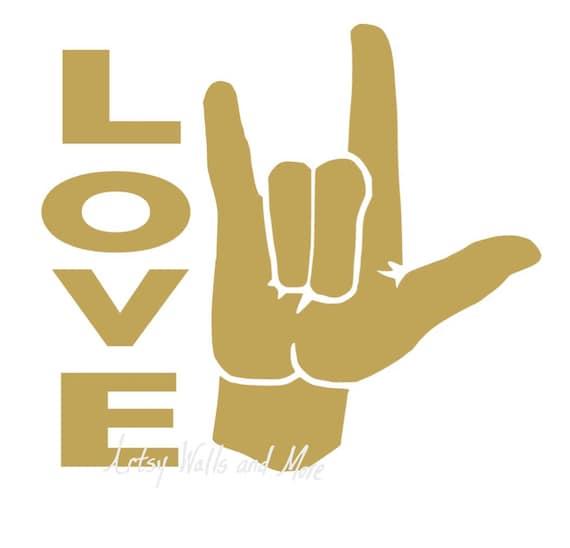 I Love You Sign Language Svg Clipart Cut File Svg Png Jpg Etsy