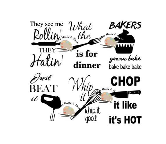 Baking Song Lyrics Svg Cut File Funny Kitchen Signs Svg Funny Kitchen Song Lyrics Svg File Funny Cooking Song Lyrics Svg Silhouette Cricut