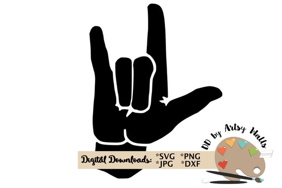 Svg Png Jpg File I Love You Sign Language Clipart Cut File Etsy