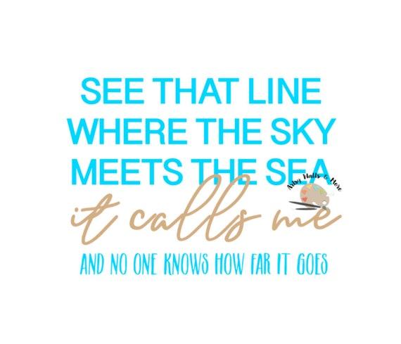 Moana Shirt See The Line Where The Sky Meets the Sea