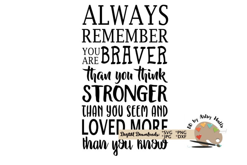 Always Remember You Are Braver Svg Winnie The Pooh Quote Svg Etsy