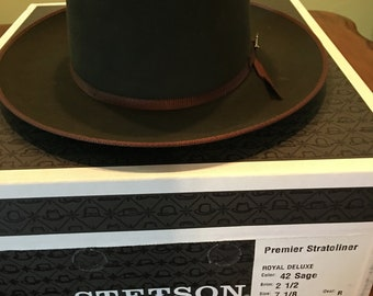 03c6b891c749c Stetson Premier Stratoliner Royal Deluxe Hat Size 7 1 8 with Box Excellent  Plus