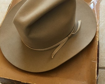 45ef34ed0a045 Vintage original Stetson Open Road Hat with Original Box   Bill of sale 1958