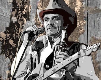 Merle Haggard 1971 Concert Poster Print by delovely Arts