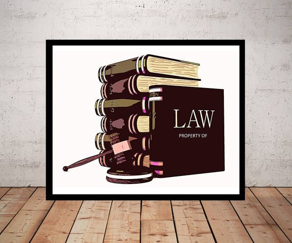 Oh Law Firm >> Items similar to Custom Lawyer Art, Print or Canvas ...