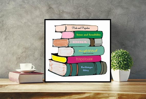 Custom Book Art Choose Favorite Novels Print Or Canvas