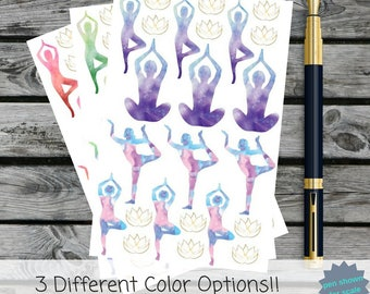 Yoga Set | Scrapbooking Stickers | Planner Stickers
