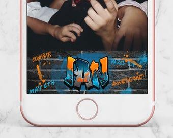 Snapchat Geofilter Bar Mitzvah Urban Street Graffiti Party, Urban Graffiti Geofilter, Snapchat Graffiti Geofilter, Urban Street Geofilter