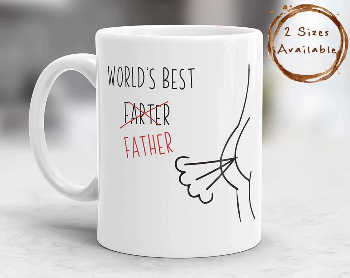 World's Best Farter / Father Mug with wind graphic