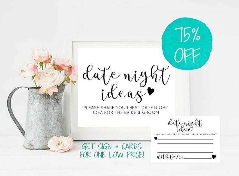 Date Night Cards Wedding Date Night Cards Date Night Idea Etsy
