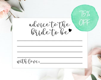 Advice Cards, 4x6 Cards, Advice For The Bride Cards, Advice For the Bride, Bridal Shower Games, Advice Cards Bridal Shower, Advice For the