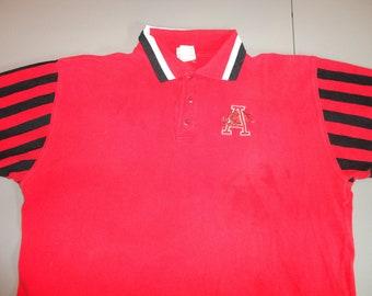 4741b56c58e8 True Vintage Red Embroidered 1990s Arkansas Razorbacks Polo Shirt ZUBAZ  Egypt Cotton Fits Adult 2XL Very Nice Condition