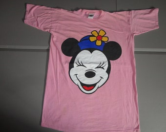 True Vintage PINK 90s Minnie Mouse Mickey and Co. Night Gown Pajama Cotton T -Shirt Fits Adult XL 0cae0312e