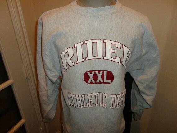 Vtg 80s Champion REVERSE Weave Rider University Br