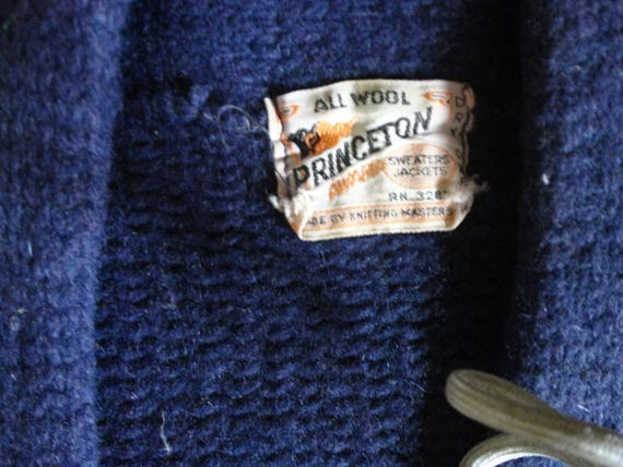 Vtg 50's Princeton All Wool USA Letterman Varsity… - image 6