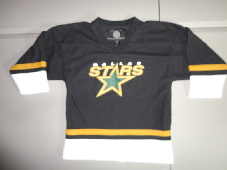 best sneakers b0e36 500b6 True Vintage 90's Dallas Stars NHL Black National Hockey league Brand Youth  M (10-12) Screen Jersey Very Good Condition