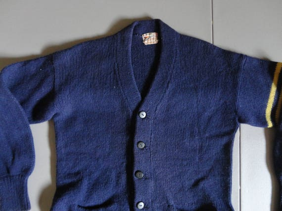 Vtg 50's Princeton All Wool USA Letterman Varsity… - image 1