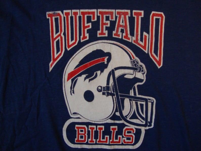 promo code 289d8 be471 Vintage 80's NFL Buffalo Bills Football Sportswear Fan Apparel Blue Long  Sleeve Shirt Size L