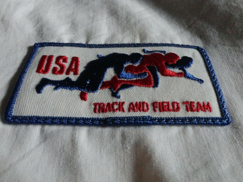 VINTAGE Swingster USA Track Field Olympics White Zip 65-35 Jacket Adult M Excel