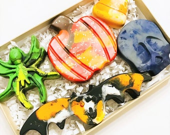 Kids Halloween Crayons Creative Coloring Boo Basket Gift
