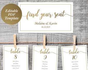 table seating plan etsy