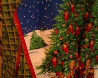 Pair of Christmas (female) and John Deere (male) Christmas Aprons
