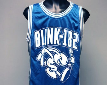 109240969 90s 1999 Blink-192 Loser Kids Tour Concert Tee Small S/M Enema of the State  Dumpweed Pop Punk MTV TRL Y2K Basketball Jersey Tank Metallic