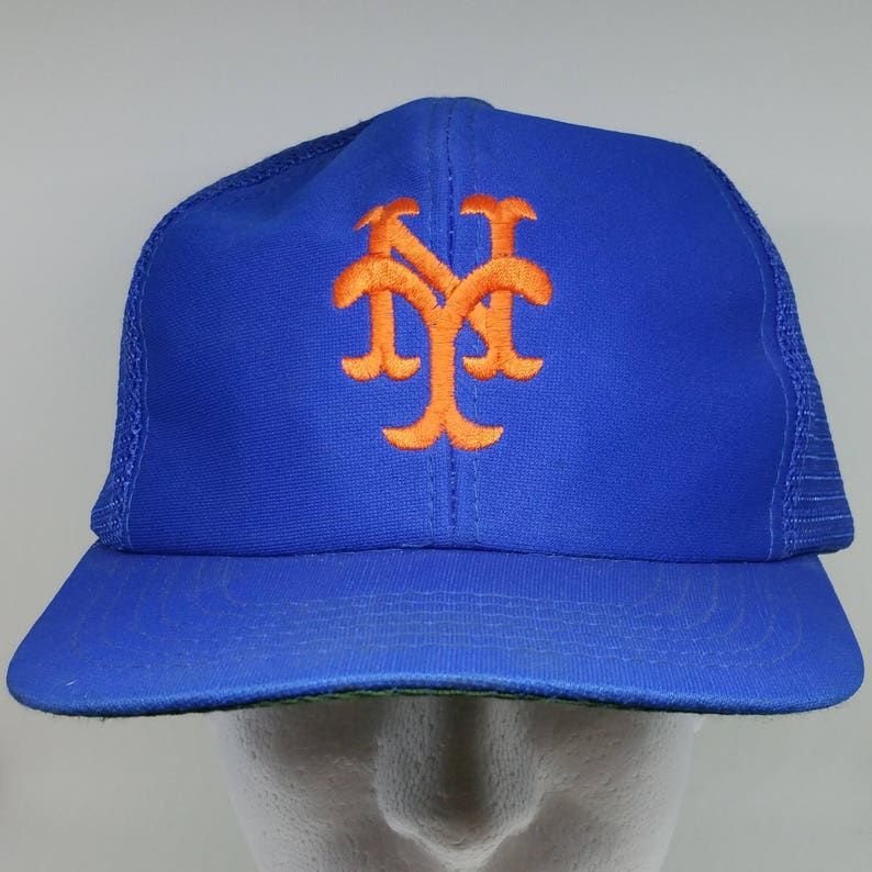 10c838c78f4 70s Blue Orange New York Yankees Baseball Cap MISSING CLOSURE