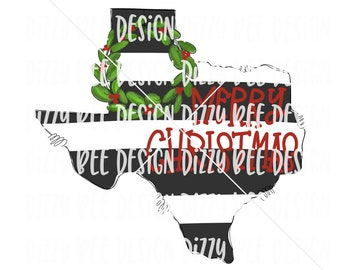 Christmas Sublimation Transfer, Ready to Press Sublimation Transfer, Striped Texas Sublimation Transfer, Texas With Magnolia Wreath, Christm