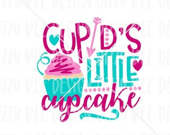 Valentine's Sublimation Transfer | Ready to Press Sublimation Transfer | Cupid's Little Cupcake Sublimation Design | Valentine Cupcake Desig