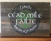Cead Mile Failte Hand Painted Sign
